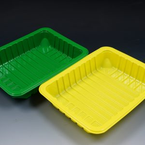 PS plastic tray using CaCO3 filler masterbatch in producing