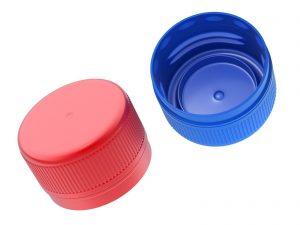 Pe bottle caps by plastic